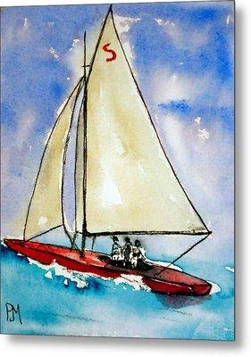 Sailin Metal Print by Pete Maier