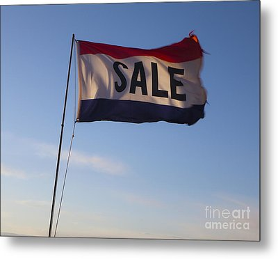 Sale Flag In The Wind Metal Print by Paul Edmondson