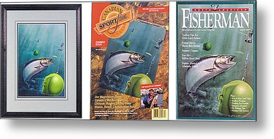 Salmon And Down Rigger Metal Print by JQ Licensing