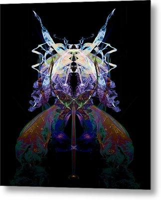 Samurai Bug Plant Metal Print by David Kleinsasser