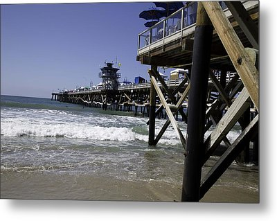 San Clemente Pier Metal Print by Joenne Hartley