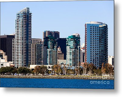 San Diego California Skyline Metal Print by Paul Velgos
