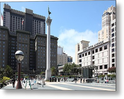 San Francisco - Union Square - 5d17933 Metal Print by Wingsdomain Art and Photography