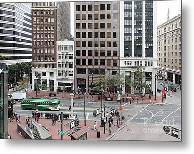 San Francisco Market Street - 5d17877 Metal Print by Wingsdomain Art and Photography