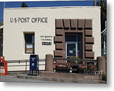 San Quentin Post Office In California - 7d18549 Metal Print by Wingsdomain Art and Photography
