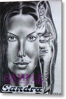Sandra Bullock Metal Print by Rick Hill
