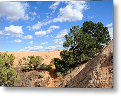 Sandstone Sky Metal Print by Gary Whitton