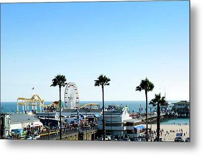 Santa Monica Pier Metal Print by Malania Hammer