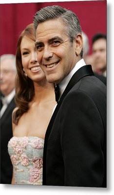 Sarah Larson And George Clooney Metal Print by Everett