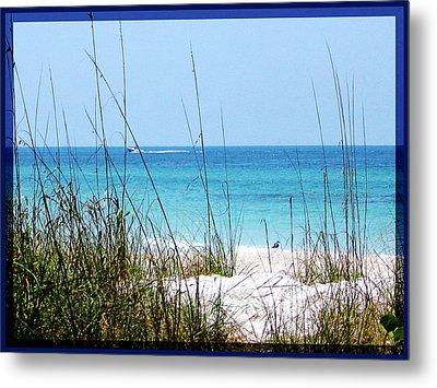 Sarasota Bay At Longboat Beach Metal Print by Ginny Schmidt