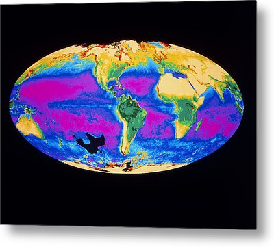 Satellite Image Of The Earth's Biosphere Metal Print by Dr Gene Feldman, Nasa Gsfc