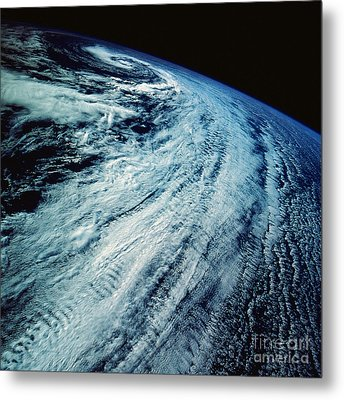 Satellite Images Of Storm Patterns Metal Print by Stocktrek Images