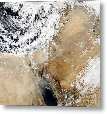 Satellite View Of The Eastern Metal Print by Stocktrek Images