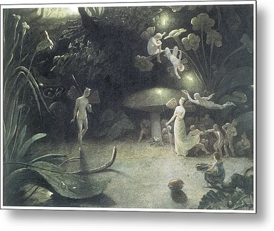 Scene From A Midsummer Night's Dream Metal Print by Francis Danby