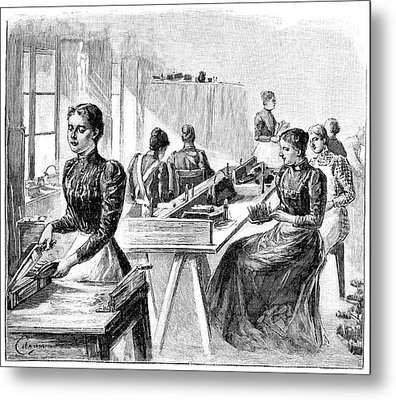 School For The Blind, 19th Century Metal Print by