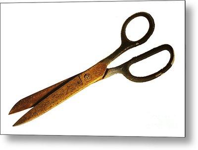 Scissors Metal Print by Tony Cordoza
