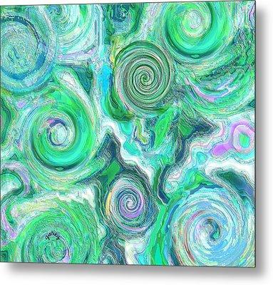 Sea Foam Metal Print by Paintings by Gretzky