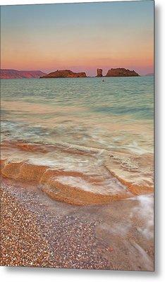 Sea Waves, Sitia,greece Metal Print by © Mitrakoulis Alexandros