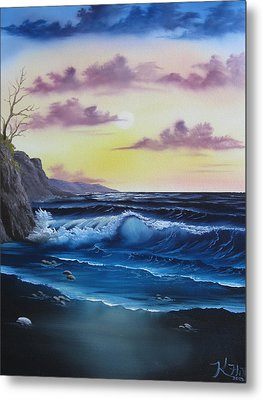 Seascape Sunset Metal Print by Kevin Hill