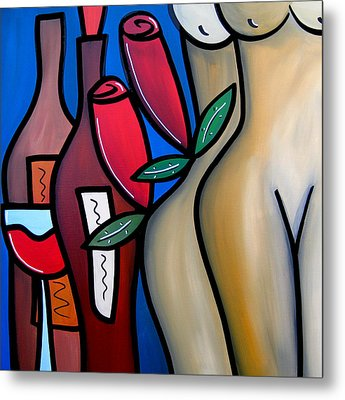 Secret - Nude Wine Art By Fidostudio Metal Print by Tom Fedro - Fidostudio