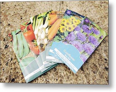 Seed Packs Metal Print by Johnny Greig