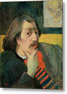 Self Portrait Metal Print by Paul Gauguin