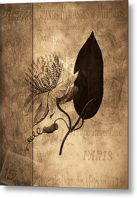 Sepia Botanical Metal Print by Bonnie Bruno