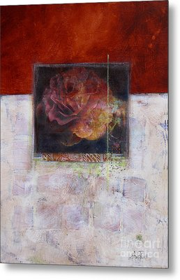 September Rose Metal Print by Ann Powell