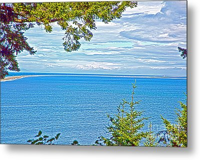 Sequim's Dungeness Spit Metal Print by Molly Heng