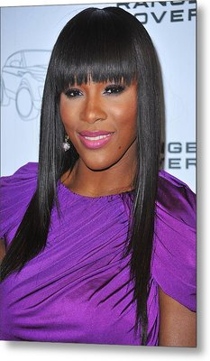 Serena Williams At Arrivals For Range Metal Print by Everett
