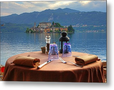 Set Table With A View Metal Print by Joana Kruse