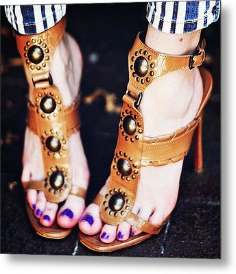 #sexyfeet #feets #sexy #shoes #zapatos Metal Print by José Herreros ♦®