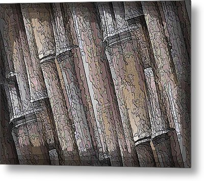 Shades Of Bamboo Metal Print by Tim Allen