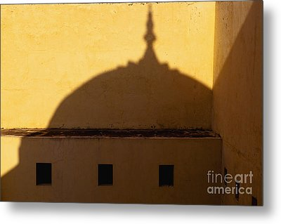 Shadow Cast On The Amber Fort Metal Print by Inti St. Clair