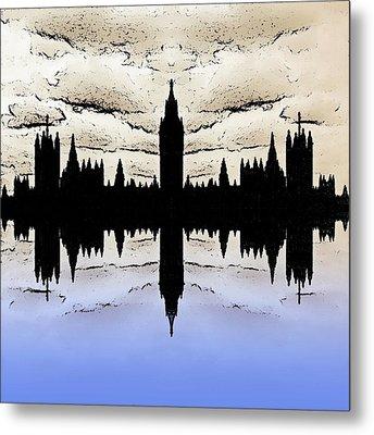 Shadow Goverment Metal Print by Sharon Lisa Clarke