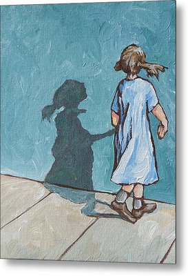 Shadow Play Metal Print by Sandy Tracey