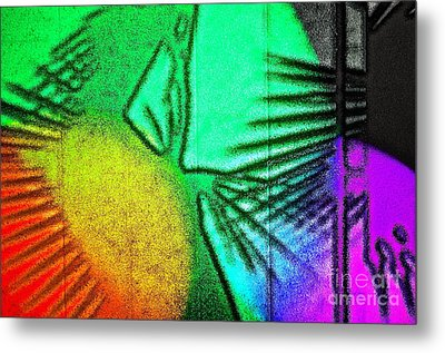 Shadows On The Wall Metal Print by Gwyn Newcombe