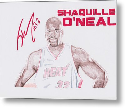 Shaquille O'neal Metal Print by Toni Jaso