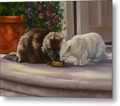Sharing Metal Print by Kathleen  Hill