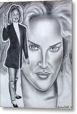 Sharon Stone Metal Print by Rick Hill