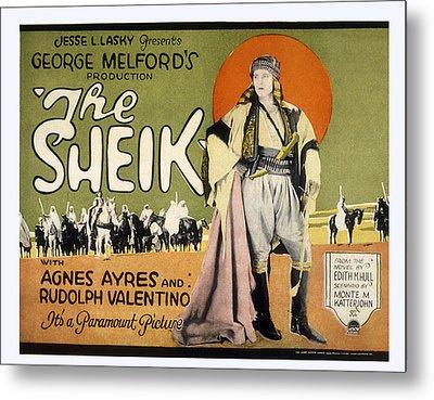 Sheik, Rudolph Valentino, 1921 Metal Print by Everett
