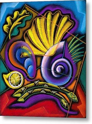 Shellfish Metal Print by Leon Zernitsky