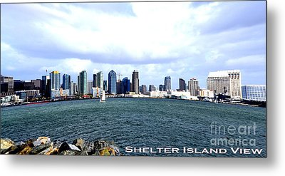 Shelter Island Ca View Metal Print by RJ Aguilar