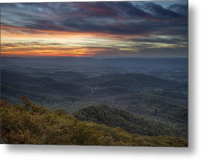Shenandoah Sunset Metal Print by Pierre Leclerc Photography