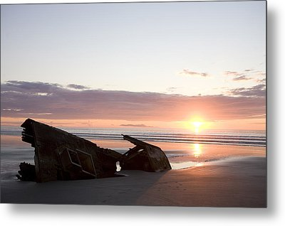 Shipwreck, Boats, Danger, Rotting Metal Print by Taylor S. Kennedy