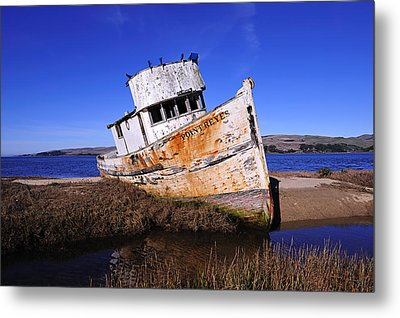 Shipwrecked In Inverness Metal Print by Richard Leon