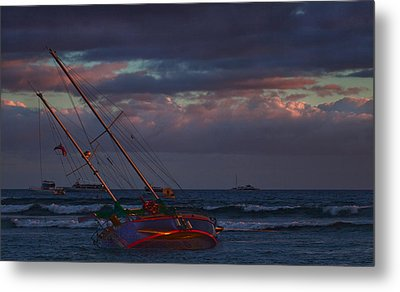 Shipwrecked Metal Print by James Roemmling