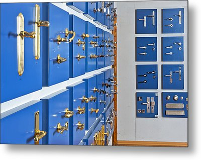 Showroom With Various Brass Metal Print by Corepics