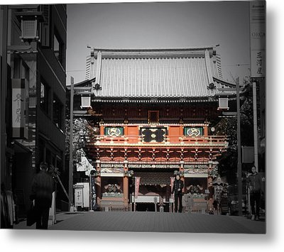 Shrine In Tokyo Metal Print by Naxart Studio