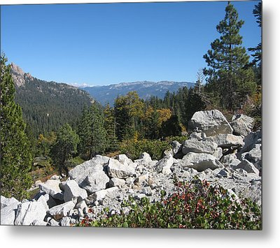 Sierra Nevada Mountains 1 Metal Print by Naxart Studio